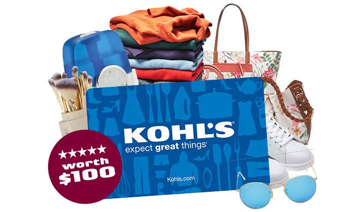 $100 Kohls Gift Card