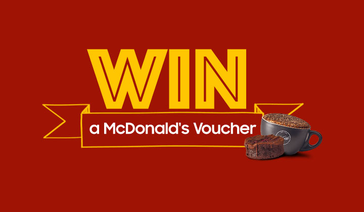 WIN A McDonalds Voucher