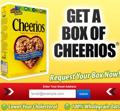 FREE Cheerios Sample – Email Submit