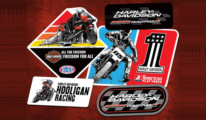 FREE Harley-Davidson Racing Stickers