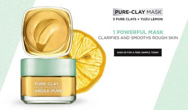 FREE L'Oreal Pure-Clay Mask Sample