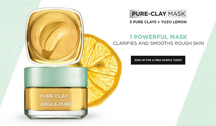 FREE L'Oreal Pure-Clay Mask Sample