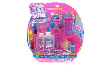 FREE Rainbow Glitter Slime Kit