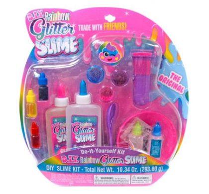 Free Rainbow Glitter Slime Kit X