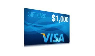 Get a $1000 Visa Card – One Field